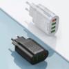 Hálózati töltő adapter 4 db USB csatlakozóval